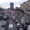 Пробка в Москве около метро Сокол