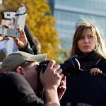 Фотограф на митинге в поддержку выборов КС