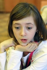 Ученица школы с инклюзивным образованием