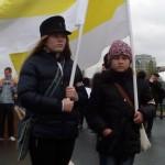 Молодые участницы Русского марша