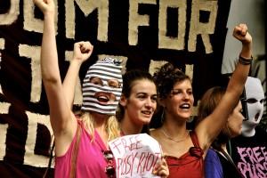 Сторонники Pussy Riot в Лондоне