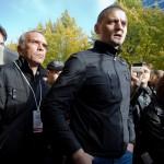 Сергей Удальцов дает интервью