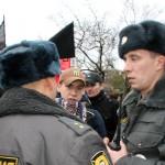 Полиция на митинге антифашистов