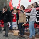 Музыканты на митинге антифашистов